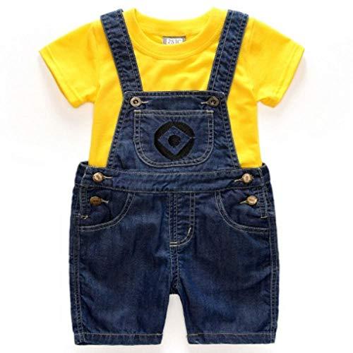 CHANGL Neue Rolle Spielen Minion Held der Kinder Kinder Kostüm Minion Sweatshirts Cosplay Baby Jeans Overalls Minions Sweater Anzug