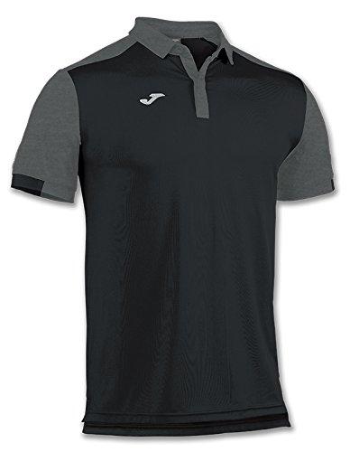 Joma Comfort Camiseta Polo, Hombres, Negro-100, XS