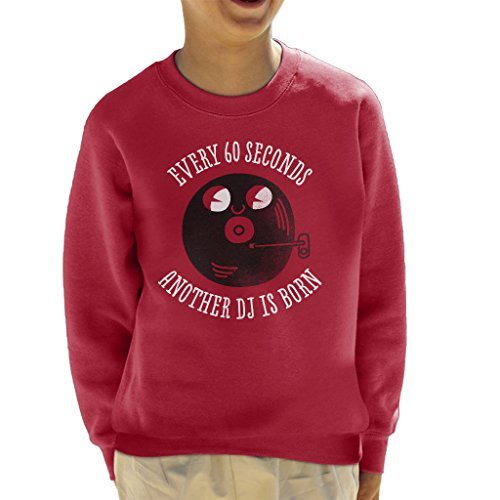 Every Sixty Seconds A DJ Is Born Kid's Sweatshirt