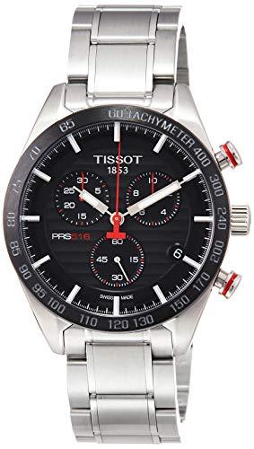 Tissot PRS 516 Quartz Chronograph / orologio uomo / quadrante cote de Geneve nero / cassa...
