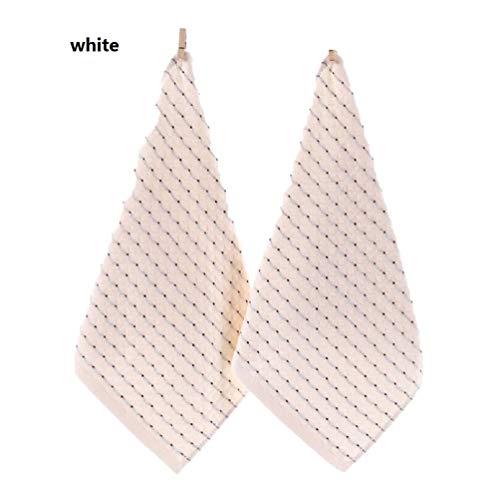 MXH 3 geladen katoen diamant vierkante handdoek absorberende verdikking stof 32 strengen geborduurd l katoenen zakdoek,wit,35 * 35