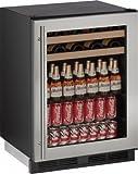 U-Line U1224BEVS00B 5.4 cu. ft. Capacity 24' 1000 Series Freestanding or Built In Full Size Beverage Center in Stainless Steel
