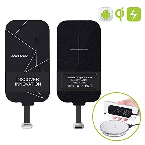 Nillkin Qi Receptor USB C, cargador inalámbrico fino Qi Receiver, Type C Cargador de inducción, Super Speed Carga inductiva para Huawei Nova, Sony XZ1, LG G5, HTC 10 Type-C Teléfono Móvil Andr
