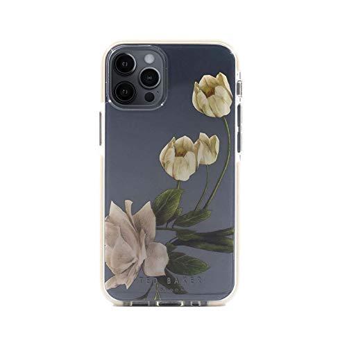 Ted Baker (テッドベーカー) iPhone12 iPhone12Pro ケース クリア Anti-Shock Case 花 耐衝撃 衝撃 保護 カバー (Elderflower Clear)