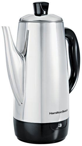 Hamilton Beach 40616 Stainless-Steel 12-Cup Electric Percolator (Renewed)