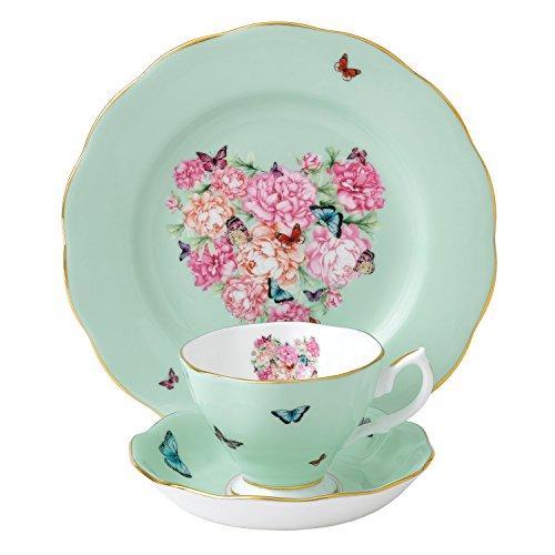 Miranda Kerr by Royal Albert Servizio da tè Blessings, Set di 3 Pezzi con Tazza, piattino e Piatto da 20 cm