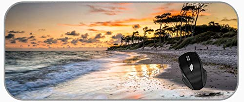 XXL Gaming Große Mauspad Sand Natur Sonnenuntergang Ocean Beach Sandstein Landschaft Mauspad