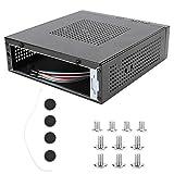 Estuche Mini HTPC Computadora de cine en casa ITX Estuche para computadora de escritorio con placa base mini/Estuche compacto delgado para computadora de factor de forma pequeño C60, Tipo de disipació