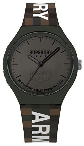 Superdry Reloj Analógico para Hombre de Cuarzo con Correa en Silicona SYG251E