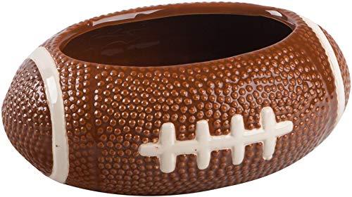 KOVOT Football Dip Bowl Dish | Ceramic Football-Shaped 23 Ounce Bowl | Measures 7' x 5' x 3'