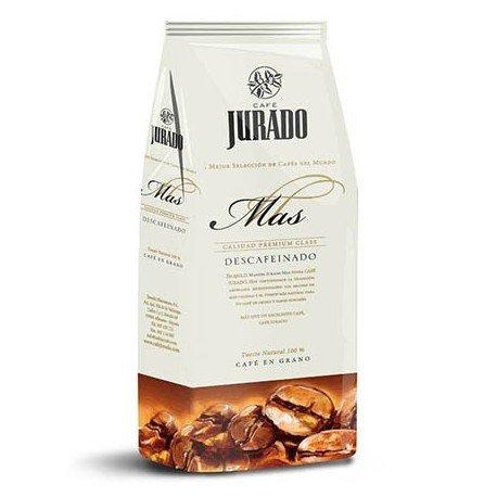 Jurado Mas - Café en Grano Descafeinado de Tueste Natural Jurado Mas 1 kg para Cafeteras Super Automáticas de casa con Molinillo de Café o Thermomix. Blend de Arábica y Robusta de Cafetería.