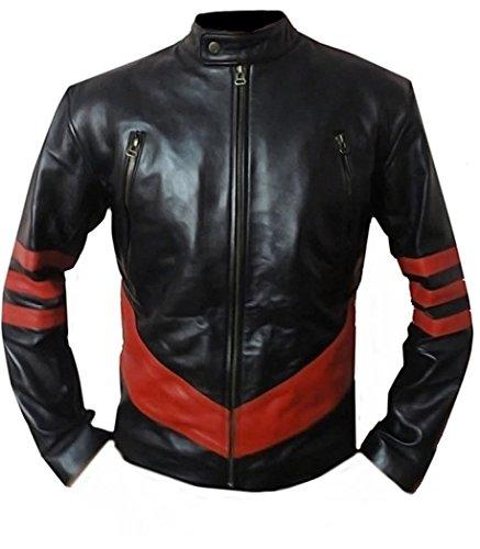 Classyak Herren Xmen Wolverine Fashion Moto Leder Jacke Gr. XXXXX-Large, schwarz