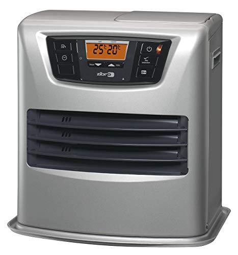 Zibro Lc 135 Stufa a Combustibile Elettronica, portatile, 3500 W, Argento, da 21m2 - 56m2, senza installazione, termostato regolazione settimanale, Classe di efficienza Energetica A (Ricondizionato)