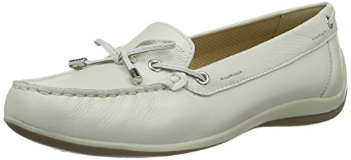 Geox Geox Damen D Yuki A Mokassin, Weiß (Off WHITE/WHITEC1209), 36 EU