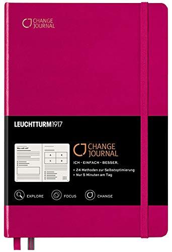 CHANGE JOURNAL | 24 Techniken für mehr Produktivität, Achtsamkeit & Klarheit | Leuchtturm1917 Edition (Beere)
