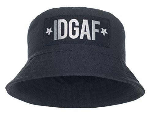 Damen Mädchen Parental Advisory Bucket Hat Bush Cap Sommer Urlaub schwarz Party Gr. One Size, Schwarz - IDGAF