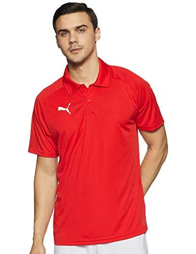 PUMA Herren LIGA Sideline Polo Poloshirt, Red White, L