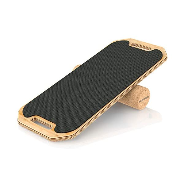 EveryMile Balance Board Trainer, Wooden Roller Board – Stability and Core Trainer,...