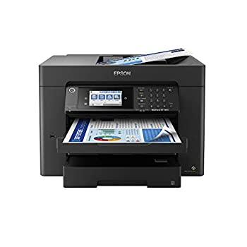 Epson WorkForce Pro WF-7840 Wireless All-in-One Wide-format Printer with Auto 2-sided Print up to 13  x 19  Copy Scan and Fax 50-page ADF 500-sheet Paper Capacity 4.3  screen Works with Alexa