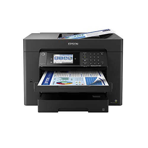 "Epson Workforce Pro WF-7840 Wireless All-in-One Wide-Format Printer with Auto 2-Sided Print up to 13"" x 19"", Copy, Scan and Fax, 50-Page ADF, 500-sheet Paper Capacity, 4.3"" Screen, Works with Alexa"