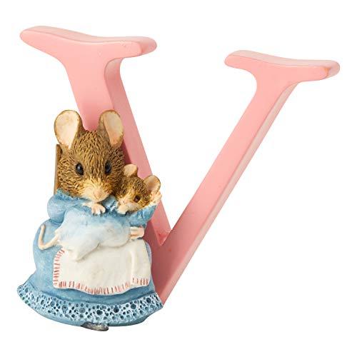 Beatrix Potter - Figura Decorativa de Letra V, diseño de hámster