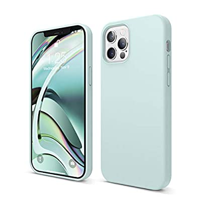 elago Liquid Silicone Case Compatible with iPhone 12 and Compatible with iPhone 12 Pro 6.1 Inch (Green) - Full Body Protection (Screen & Camera Protection)