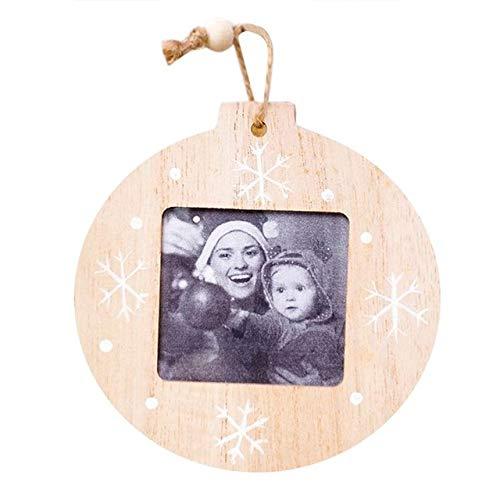 WERNG Decoraciones navideñas DIY Marco de Fotos de Madera Colgante Decoraciones navideñas Ree Adornos Decoraciones navideñas para el hogar Navidad B
