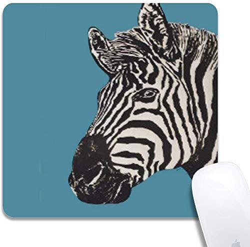 Mauspad - Niedliche Mausmatte für Laptop Natürliche rutschfeste benutzerdefinierte Zebrabild Kleine Gaming Office Mauspadmatte für Kinder / Erwachsene