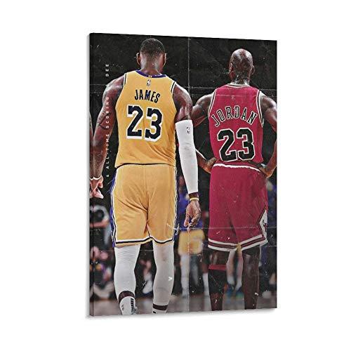 ASDWD Póster decorativo para pared, diseño de rey de baloncesto (50 x 75 cm)
