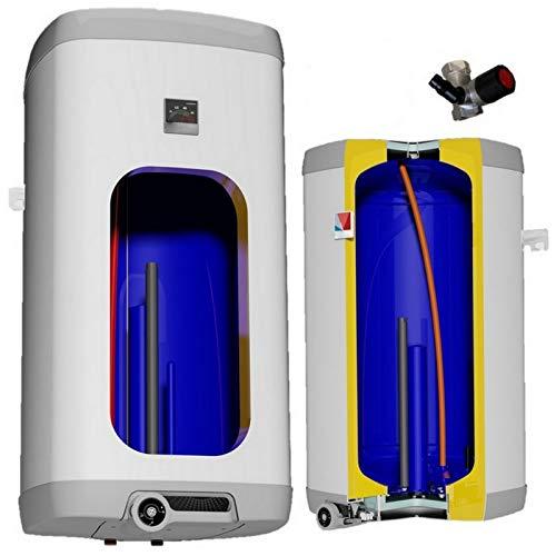 elektrischer Boiler Warmwasserspeicher Elektrospeicher eckig wandhängend Heizleistung 2 oder 4 kW verschleißfreier Keramikheizstab in den Größen 50 80 100 125 160 L Liter