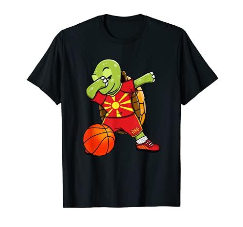 Dabbing Turtle Macedonia Jersey Macedonia Fans de baloncesto Camiseta