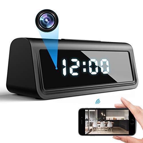 DEXILIO 4K WiFi Cámara de Reloj espía, pequeña cámara inalámbrica para niñera con visión Nocturna y detección de Movimiento, cámara de vigilancia de Seguridad Oculta para el hogar y la Oficina