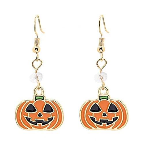 Onsinic 5 Pcs Set De Joyería Colgante De Calabaza Tema De Halloween Collar Esmaltado Colgante Pendientes Sets para Mujeres Niñas