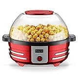 EMOOJOO Popcorn Maker, 5L elektrische Popcornmaschine, für gesundes, weniger fettiges Popcorn, 850...