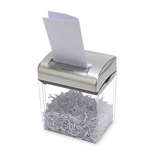 Destructora de papel, Trituradora de papel/4 hojas/4×25mm Corte cruzado/Papelera de 4.5 L/Protección de sobrecarga/Destruye CDs y tarjetas de crédito/Prevenir el robo de datos
