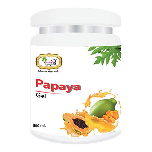 Sibley Beauty Papaya Fruit Moisturizer Massage Gel for Face (1 x 500 gm.) - for blemishes, pigmentation, whitening, oily dry normal combination skin, men women girls boys - Salon Pack Products