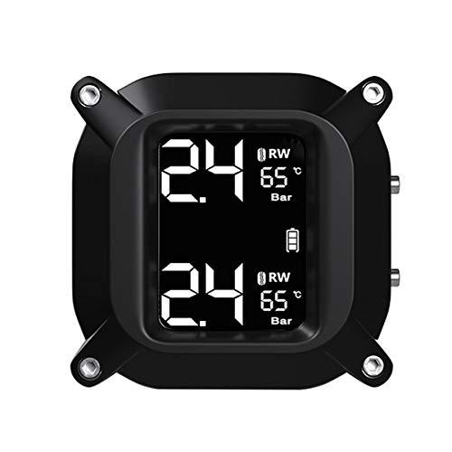 Didad Sistema de Monitoreo de PresióN de NeumáTicos en Tiempo Real para Motocicleta a Prueba de Agua Pantalla LCD InaláMbrica Sensores Externos Moto TPMS