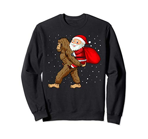 Santa Riding Bigfoot Christmas Sasquatch Christmas Ornament Sweatshirt