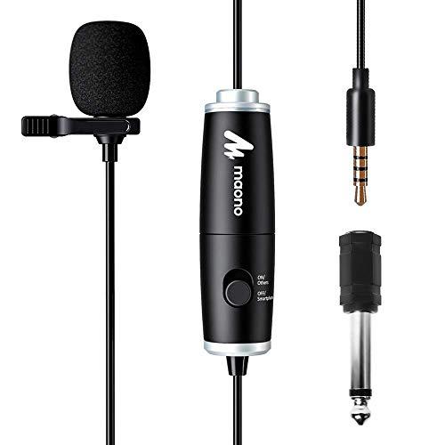 Lavalier Microphone, MAONO AU-101 Hands...