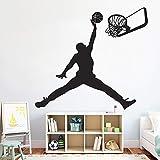 wukongsun Fototapete Basketball-Spieler Kunst Wandaufkleber Sport Poster Junge Schlafzimmer...
