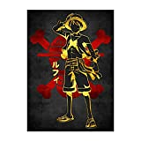 Anime One Piece Poster Luffy Zoro Nami The Straw Hat Pirates HD Print on Canvas Painting Wall Art for Living Room Decor Boy Gift (Unframed, One Piece-01)