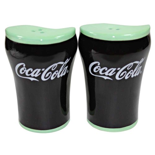 Coca-Cola Bell Glass Salt and Pepper Shakers by Coca-Cola
