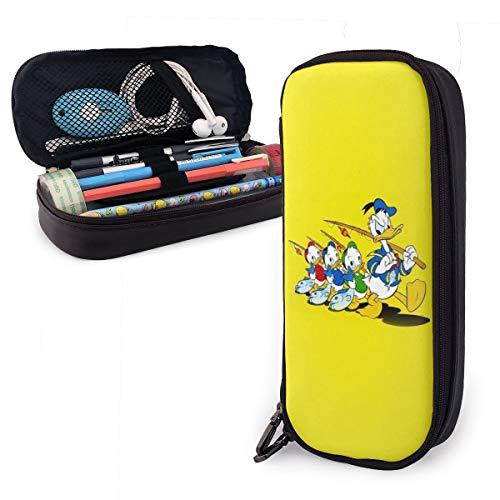 Bleistiftetui Aus Leder Mit Großer Kapazität, Halterbox Für Schüler Im Schulbüro, Taschenbeutel Für Schreibwaren Organizer, Gelbe Angelrute von Disney Donald Duck