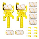 Paint Edger Combo Kit Multifunctional Hand-held Clean-cut Paint Edger Roller Brush for Home Office Room Wall Ceilings 2 sets