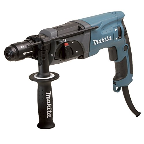 Makita HR2470FT boorhamer SDS-Plus, blauw, zilver