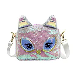 Unicorn White Sequins Crossbody Shoulder Bag