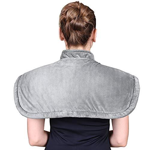 Elektrisch Heizkissen für Schulter und Nacken - Heizdecke mit 6 Temperaturstufen - mit Überhitzungsschutz und Abschaltautomatik - maschinenwaschbar