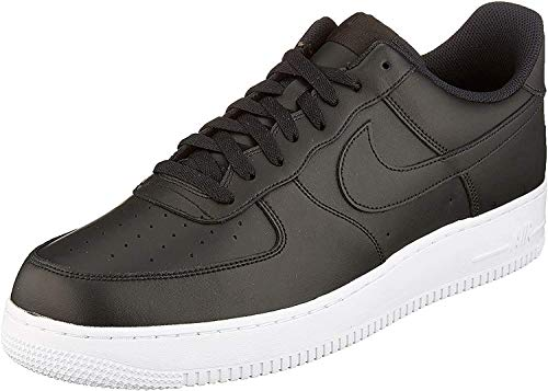 Nike AIR Force 1 '07, Baskets Homme, Noir Black-White, Numeric_51_Point_5 EU