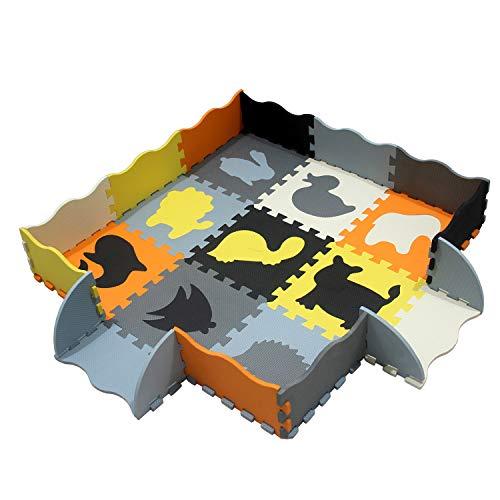 XMTMMD Baby Puzzle Matte Play Bereich Weich ineinandergreifende Schaumstoff Spielmatte Set Schutz Bodenbelag Fliesen für Kinder Puzzle Spielmatte Baby Krabbeldecke AMP054B3010