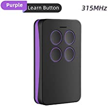 Refoss Garage Door Remote Control, Purple Learn Button Compatible with Chamberlain LiftMaster Craftsman